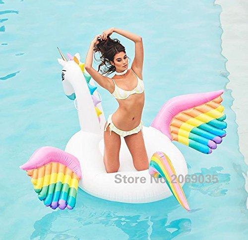 Flotador inflable en forma de Pegaso tamaño gigante para la piscina o...