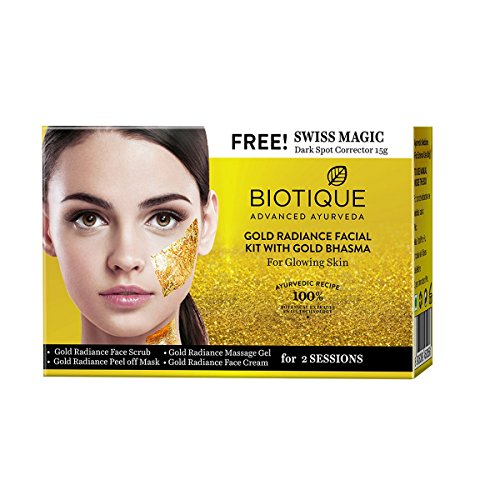 Biotique Bio Gold Radiance Facial Kit with Gold Bhasma, 75g