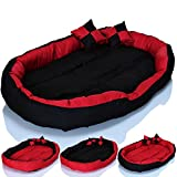 #6: Gorgeous Super Soft Reversable Dual Red-Black (Dog And Cat Bed)-Xl