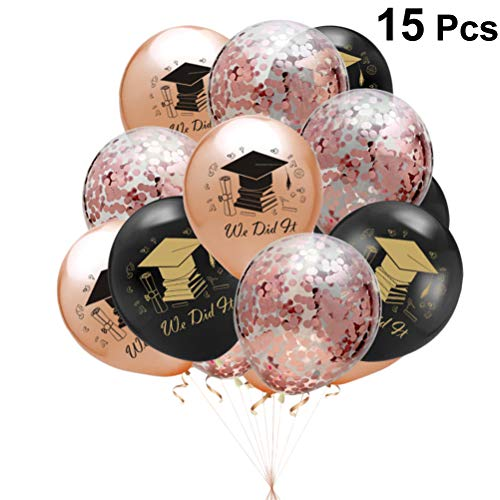 lone Kappe 2019 Buchstaben Druck Ballons Aufblasbare Konfetti Ballons Party Dekoration 15 Stücke ()
