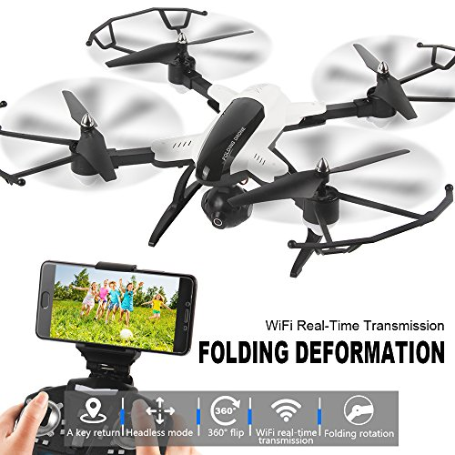 Dazhong Quadcopter plegable Drone con control WIFI Video 2.0MP HD Cámara Drone...