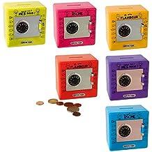 Juguete recinto Hucha caja fuerte con código 6x 8.5x 9cm PVC