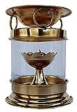 DreamKraft Brass Aromatherapy Oil Burner (Diffuser) Puja Deepak Oil Lamp with Free Accessories