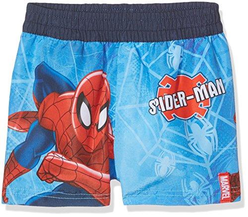 DC Comics Jungen Badeshorts Spiderman Blau, 3-4 Jahre