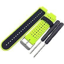 Malloom Venda de reloj de pulsera silicona recambio con herramientas para Garmin Forerunner 220 230 235 (E)