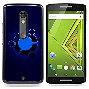 Omega Covers - Snap on Hard Back Case Cover Shell FOR MOTOROLA MOTO X PLAY - Blue
