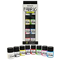 MONT MARTE Textile & Fabric Paint Set - 8 Pieces x 20ml - Permanent Textile Paints - High Quality Colours - Ideal for Clothing, Bags and All Fabrics - Perfect for Beginners and Professionals