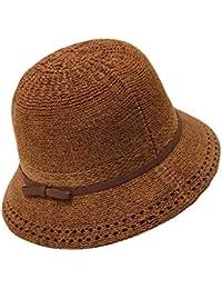 Feiboy Senora Knit Simple Sombrero Mujeres Color sólido Gorra Señoras  Transpirable Protección Solar Hats Elegante Moda a49c74c93ca