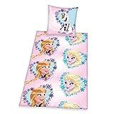 Herding 448047050412 Bettwäsche Walt Disney's Die Eiskönigin, Kopfkissenbezug: 80 x 80 cm und Bettbezug: 135 x 200 cm, 100 % Baumwolle, Renforce