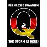 100er Pack Aufkleber 100 Sticker Qanon Deutschland Das große Erwachen – Der Sturm ist da
