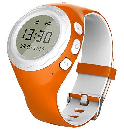 Gps-child-tracker-armband (Pingonaut Kidswatch – Kinder GPS Telefon-Uhr, SOS Smartwatch mit Ortung, Tracker & Phone - Tracking App, Deutsche Software, Orange)