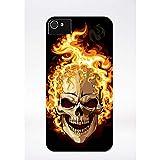 Générique Coque tête de Mort brulée Compatible iphone 4 Transparent