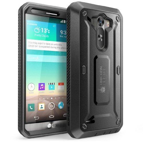 LG G3 Hülle - SUPCASE Unicorn Beetle PRO Series Full-body Hybrid Schutzhülle mit eingebauter Displayschutzfolie Screen Protector und schlagfesten Stoßstange (Schwarz/Schwarz)