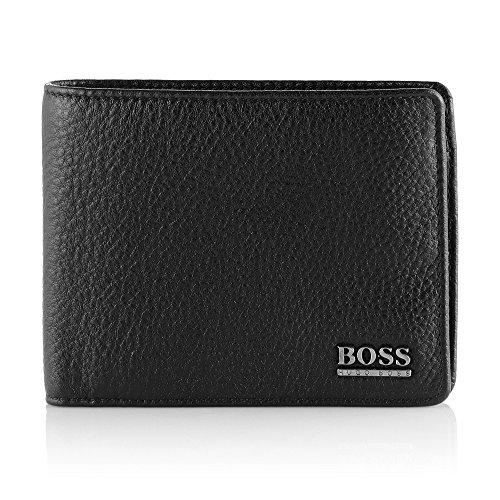 Hugo Boss exklusive Herren Brieftasche 001 Schwarz Geldbörse Portemonnaie - Leder Boss Braun Hugo