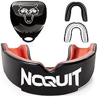 NOQUIT Premium Mundschutz - schnell Anpassbar & Fester Sitz Garantiert - Mouthguard für Kampfsport - Zahnschutz/Gebissschutz Boxen - MMA - Muay Thai - Hockey & American Football