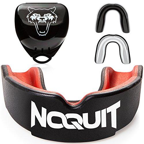 NOQUIT Premium Mundschutz - schnell Anpassbar & Fester Sitz Garantiert - perfekt für Kampfsport -...