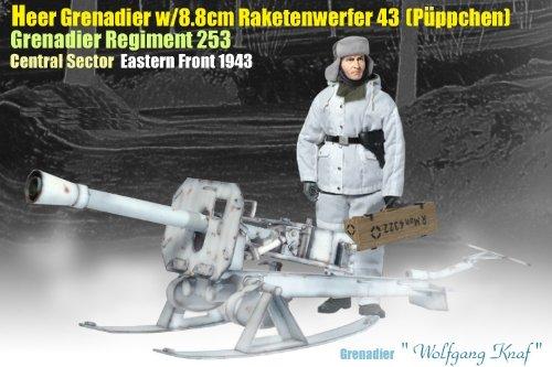 Wolfgang Knaf Heer Grenadier w/8.8cm Raketenwerfer 43 12 inch Action Figure by Dragon