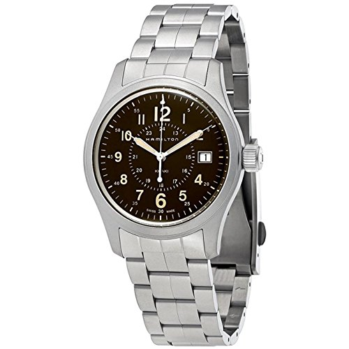 HAMILTON MEN'S 38MM STEEL BRACELET & CASE QUARTZ GREY DIAL WATCH H68201193