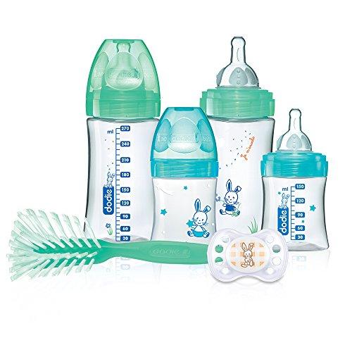 Dodie Coffret naissance Initiation+ x4 biberons anti colique (2x150ml + 2x270ml) + 1 goupillon + 1 sucette anatomique 0 - 2 mois