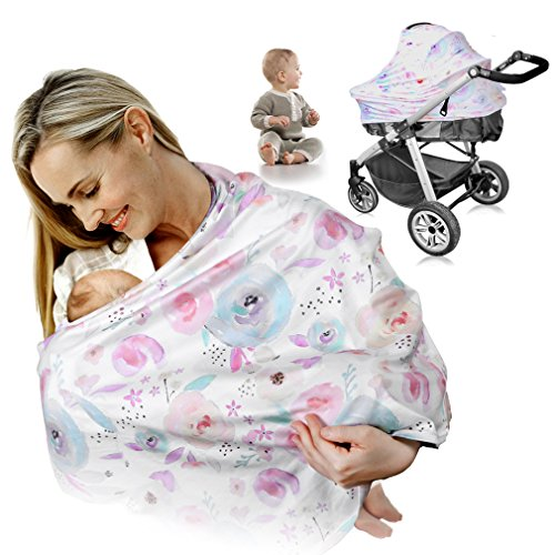 Breastfeeding Nursing Cover, MANLEHOM Stretchy...