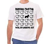 Siviwonder Unisex T-Shirt BLACK SHEEP - BOLONKA ZWETNA - Hunde Fun Schaf weiss 4XL