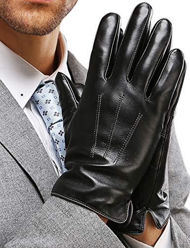 guanti in pelle moto Harrms Guanti Pelle Uomo inverno