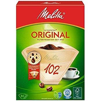 5x Melitta Original /'1x4/' Kaffeefilter á 80 Stück Filtertüten weiß Aromapor