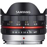 Samyang - Oeil-de-poisson - 7,5 mm - f/3.5 UMC - pour capteur micro 4/3 - Micro Four Thirds - NOIR