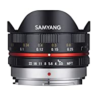 Samyang 7,5/F 3,5 UMC FISH-EYE MFT - Objetivo fotográfico para Micro Cua...