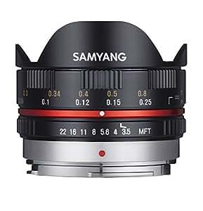 Samyang 7.5 mm Fisheye F3.5 Manual Focus Lens for Micro 4/3 - Black