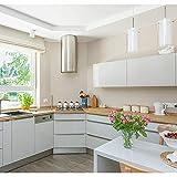 SOLDGOOD 5.5×0,61M Blanc Papier Peint Autocollant Rouleau Adhésif Sticker Mural Etanche pour Armoire Cuisine Meuble Electroménager Carreaux Mur Verre en PVC (5.5M, Blanc)