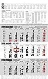 3-Monatskalender 2018 XL (30 x 50 cm) - mit Datumsschieber - mit Jahresübersicht