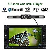 KKmoon 6,2 Zoll 2 Din Car DVD/USB/SD-Player GPS Navigation Bluetooth Radio Multimedia HD Entertainmentsystem für Auto Universal + HD-Rückfahrkamera