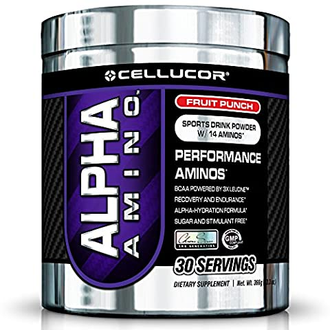Cellucor Alpha Amino 30 Servings Fruit Punch Protein Mix