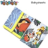 TuddyBuddy: Bedding Sheet Cum Top Sheets for Baby | Ideal for 0-2 yrs Baby | Dohar for Kids. Swaddle Blanket, AC Blanket, Baby Wrapper, Quick Dry Swaddle Wrap. Hakuna Matata Print| 100% Cotton | 90x110 Cms