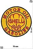 """Patches - Shell - Motor Oil - Gasoline - Sport automobile - Sport - Sport automobile - Shell - Shell- Iron on Patch - Applique embroidery Écusson brodé Costume Cadeau"""""""