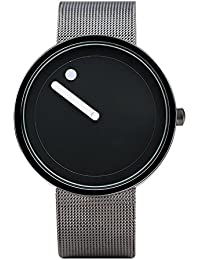 Talgo Presents Attractive Black Dial Black Strap And White Thorns Stylist Creative Analog Watch For Men 58987-...