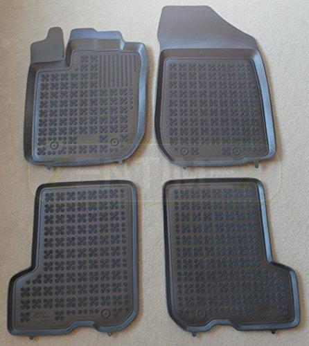 ZentimeX Z744462 Schalenmatten fahrzeugspezifisch mit Anti-Rutsch-Noppen (Durchmesser circa 18mm) schwarz