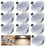 Hengda® 10X 3W LED Einbauleuchte Warmweiß Spot Decken Leuchte Lampe