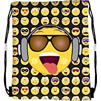 Templar Smiley Emoji Gym Bag Kid Girls Boys Drawstring PE Swim School Sport Bag Rucksack