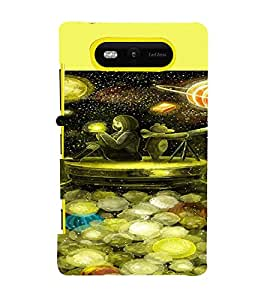 PRINTVISA Abstract Space Case Cover for Nokia Lumia 820