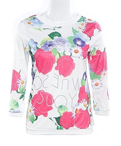 SunIfSnow - Top à manches longues - Uni - Manches Longues - Femme - rose - Small