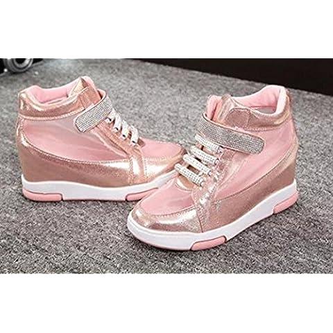 SHIXR Tacchi alti scarpe moda signora aumentano in maglia di