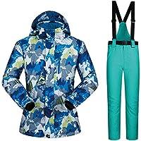 Jiuyizhe Chaqueta Impermeable para el Viento para Hombres, Traje de Nieve Impermeable para la Chaqueta de esquí de montaña (Color : 05, Size : M)