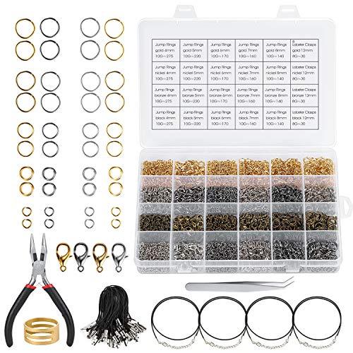 Magicfly 4000 Stück Schmuck Herstellung für Schmuck Basteln DIY