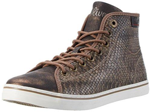 s.Oliver 25219, Sneakers Hautes Femme Marron (Pepper Snake 329)