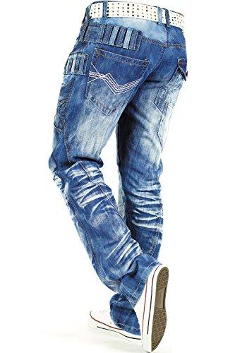 Kosmo Lupo Herren Jeans Freizeit Streetwear Urban Style Denim Black Modell-19 - Kosmo Lupo