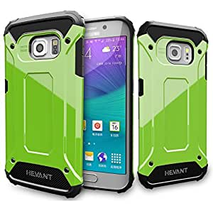 Ghevant S6 Edge Case,Soft TPU + Hard PC armor case,Armor Design Case For S6 Edge,Smooth Surface Case for Galaxy S6 Edge-GHT516(Green)