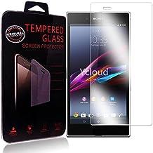 Ycloud Protector de Pantalla para Sony Xperia Z Ultra (XL39h) 6.4Pulgada Cristal Vidrio Templado Premium [9H Dureza][Alta Definicion]