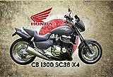 Honda CB 1300 SC38 X4 Motorrad Japan blechschild